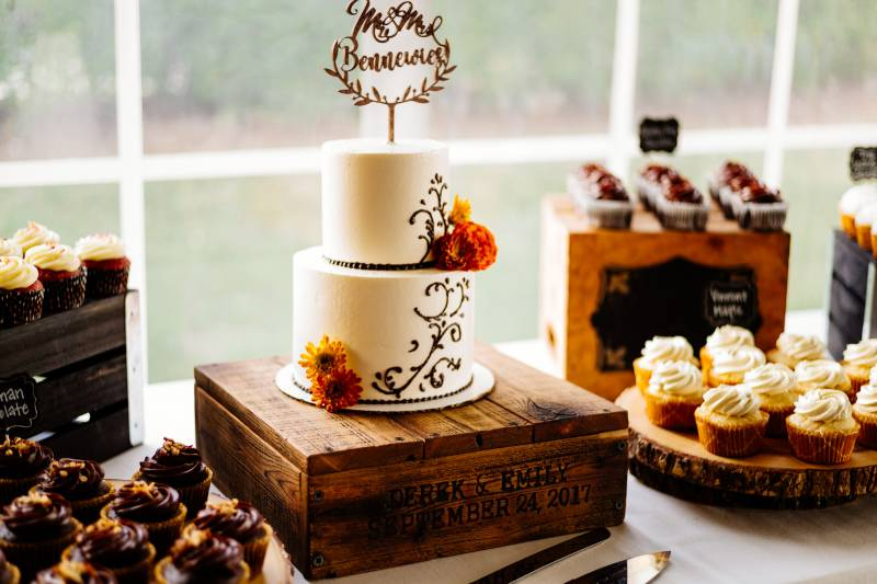 Fall inspired Cake by North Country Cakes