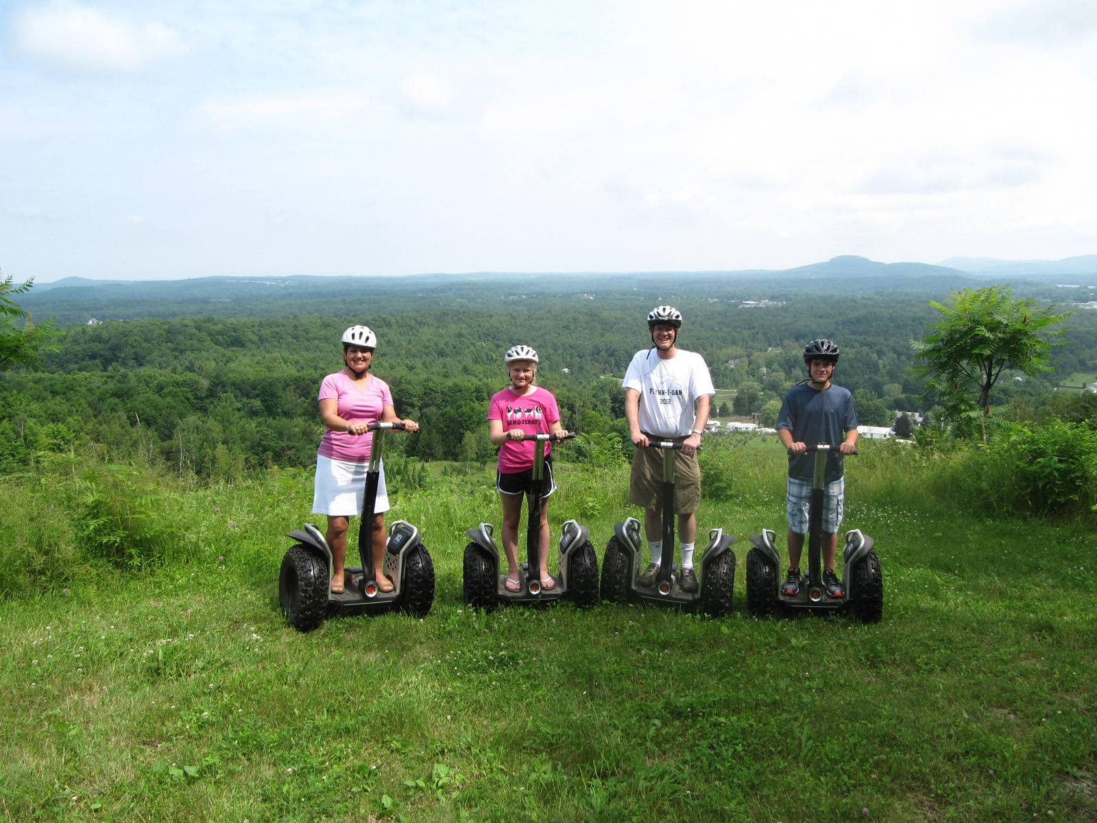 Segway tour at Sharp Park in Milton Vermont - ideas for adventure microweddings in Vermont