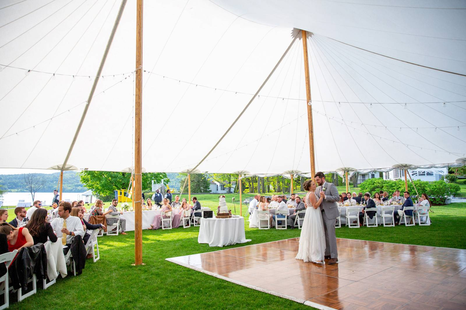 First dance under sail tent at Basin Harbor Club