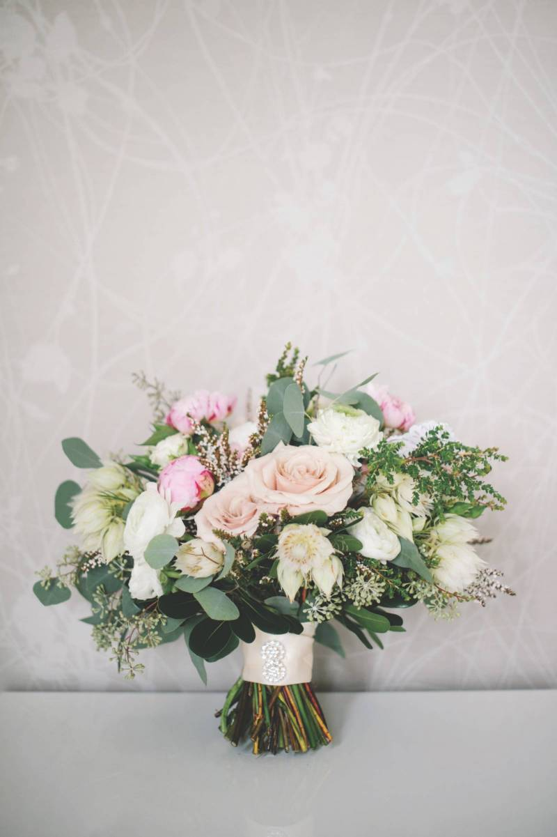 Blush and White Wedding Bouquet