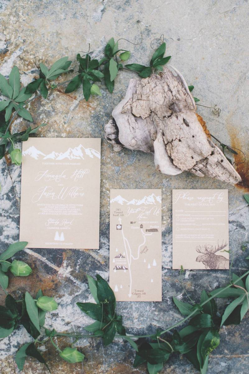 Cream and White Wedding Stationery