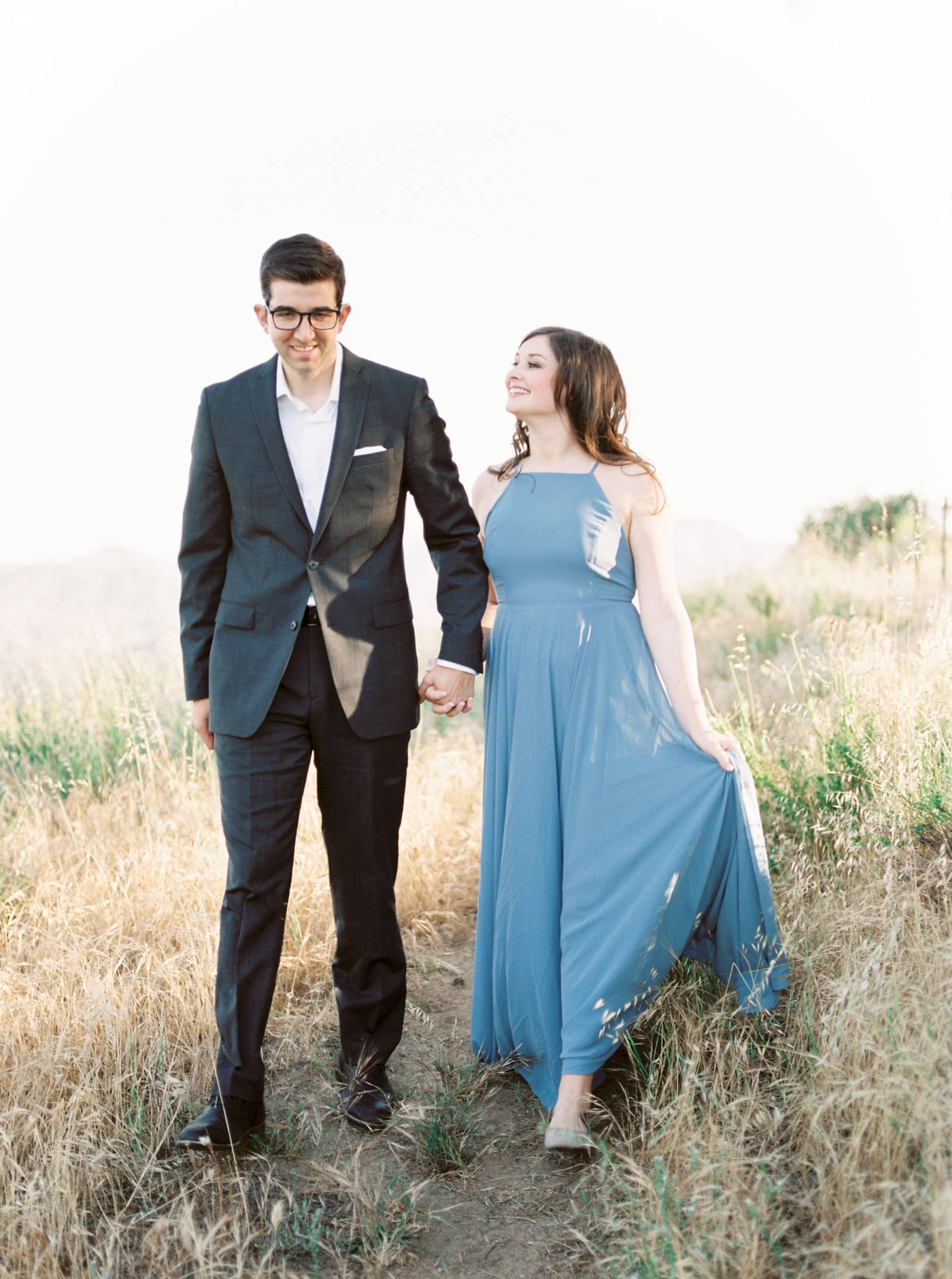 Magical California engagement session in golden light | California ...