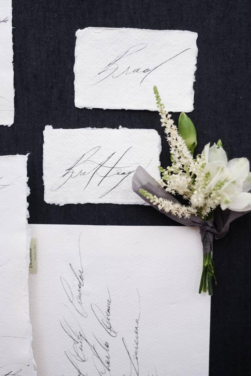 Elegant Louisiana garden wedding in a green & white palette ...