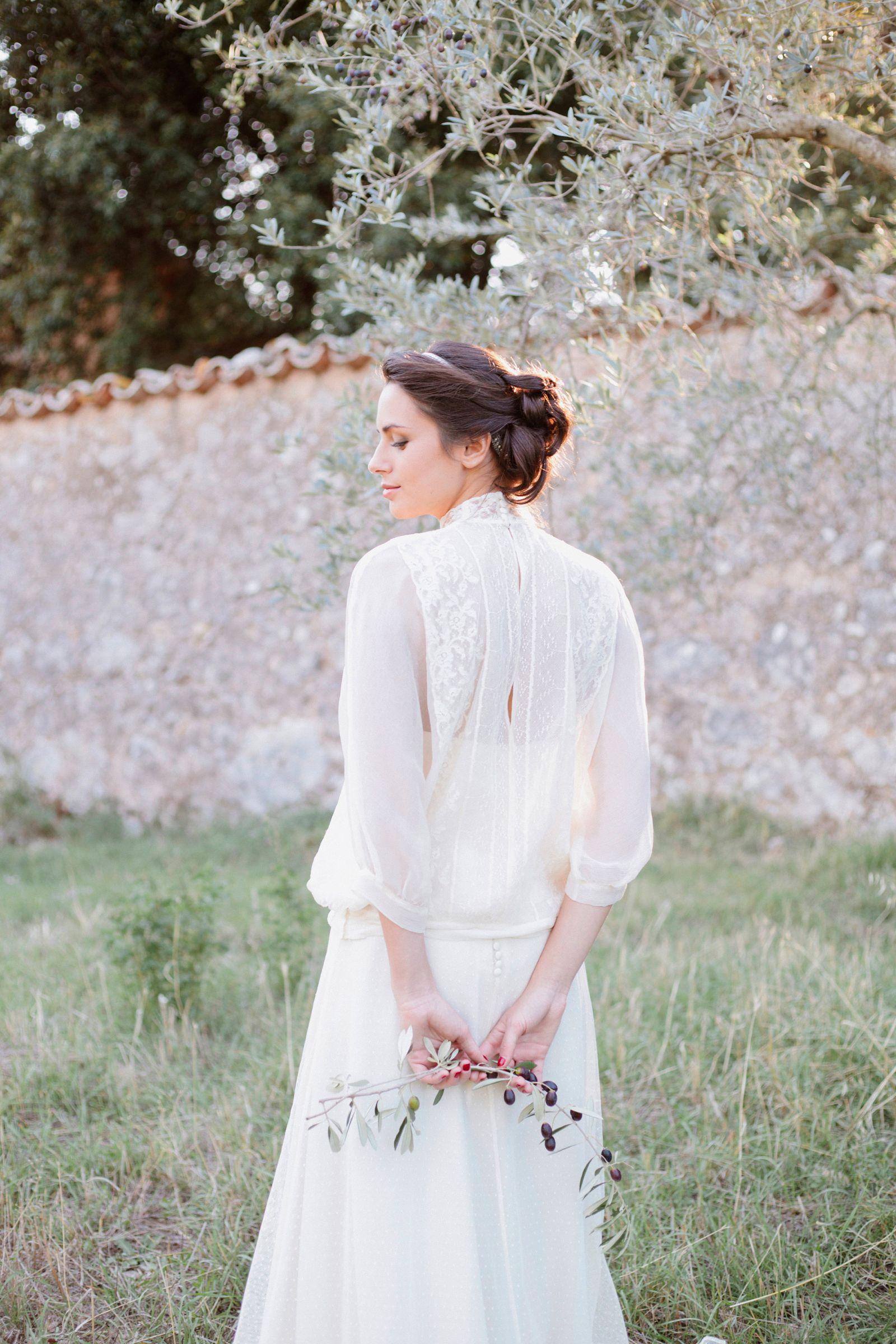 Organic bridal inspiration amongst the rolling hills of Umbria ...
