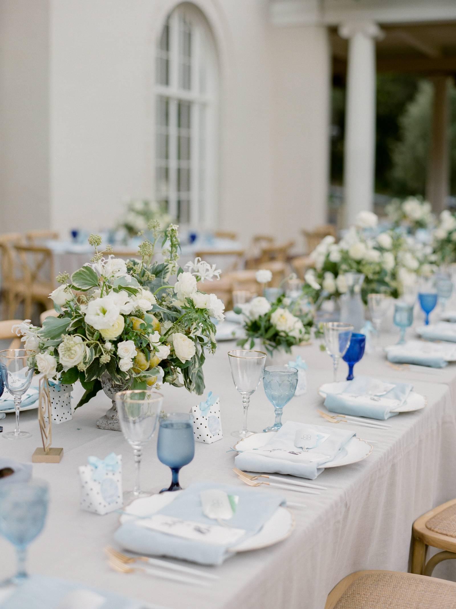 Lush garden party wedding in California