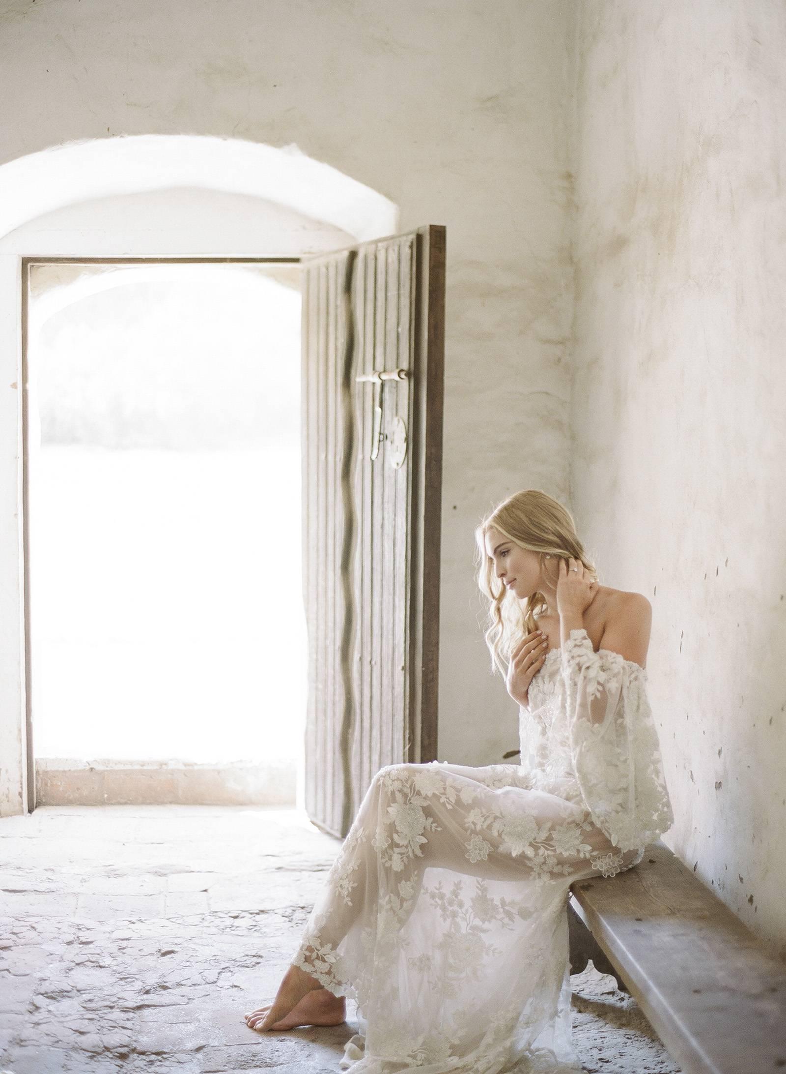 Stunning bridal shoot amongst wild horses and golden wheat fields ...