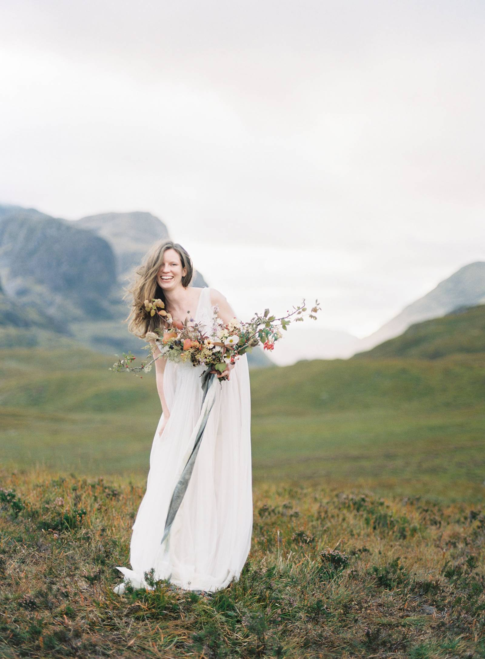 Minimalist Yet Wild Bridal Shoot In The Scottish Highlands