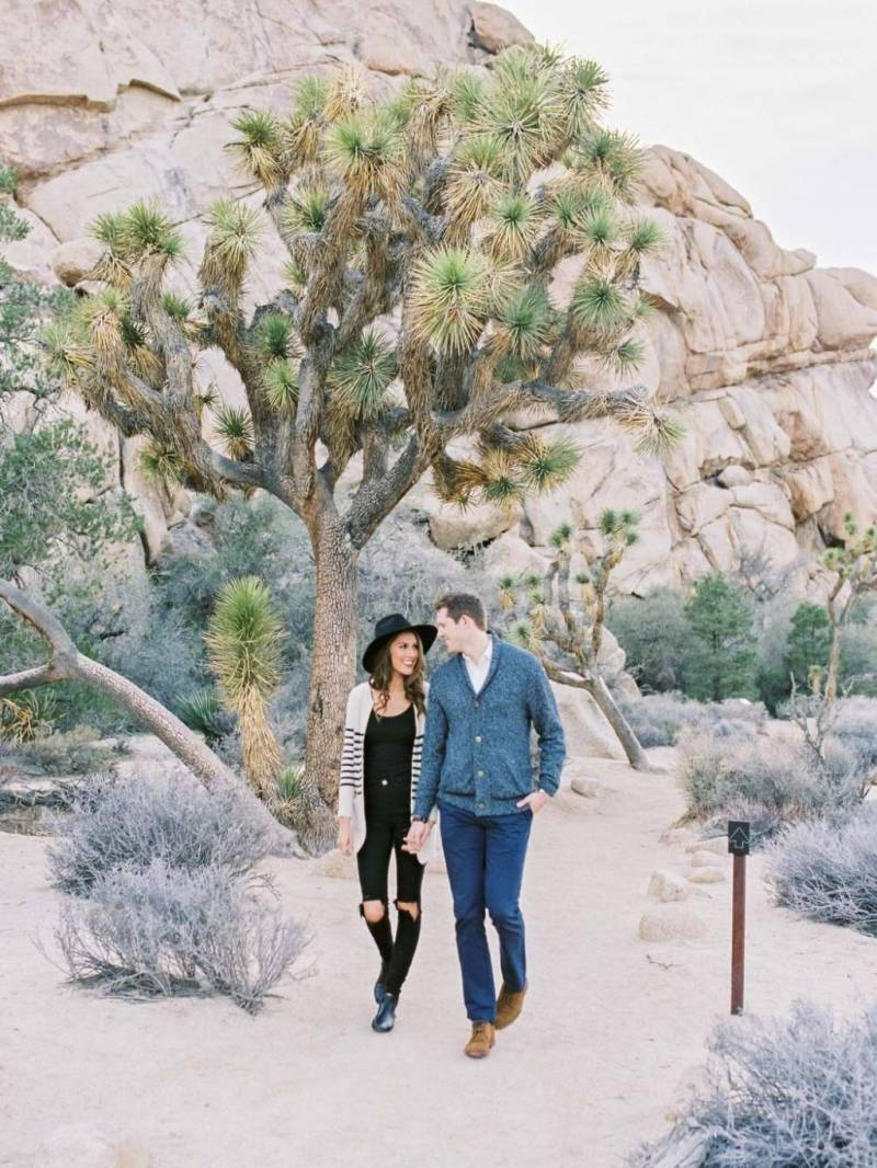 Wedding Nature Photography Joshua Tree Engagement