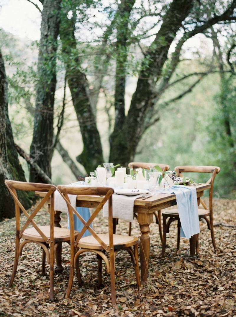 Table setting in nature
