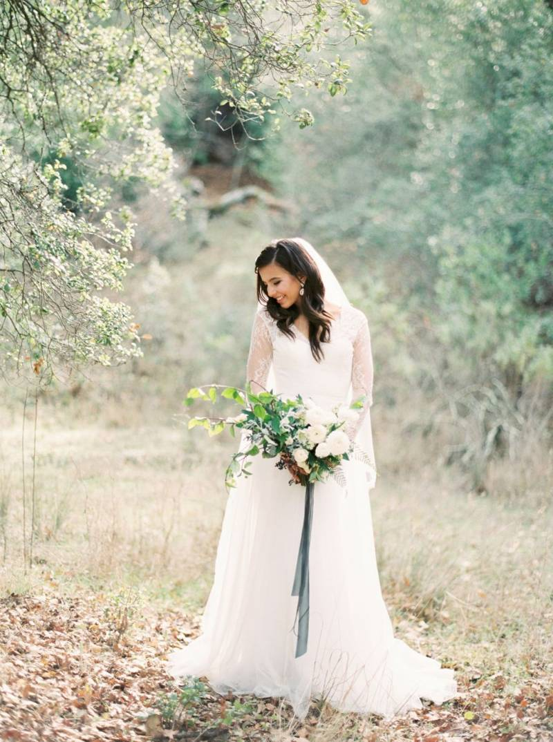 Bride in meadow