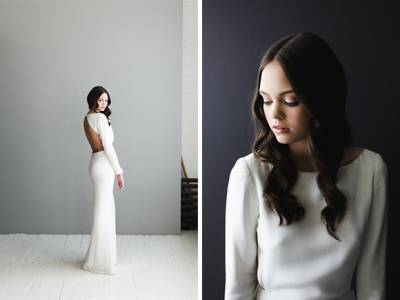 Modern & Edgy Bridal Gowns From Houghton Nyc
