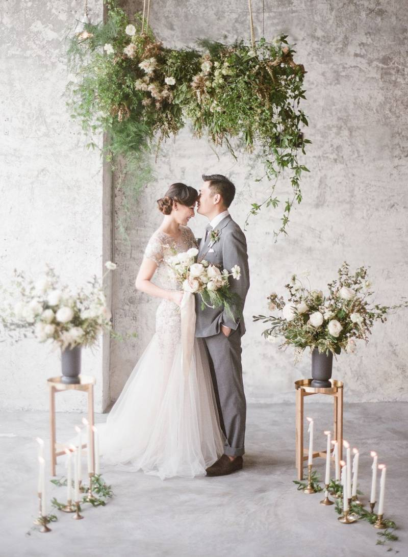Bride and Groom floral ceremony
