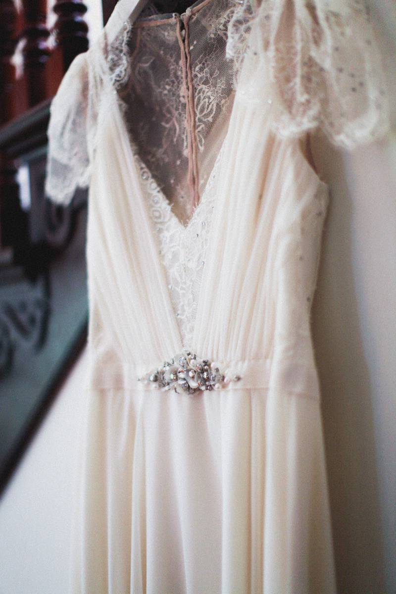 Simple Elegant Victorian Inspired Backyard Wedding California