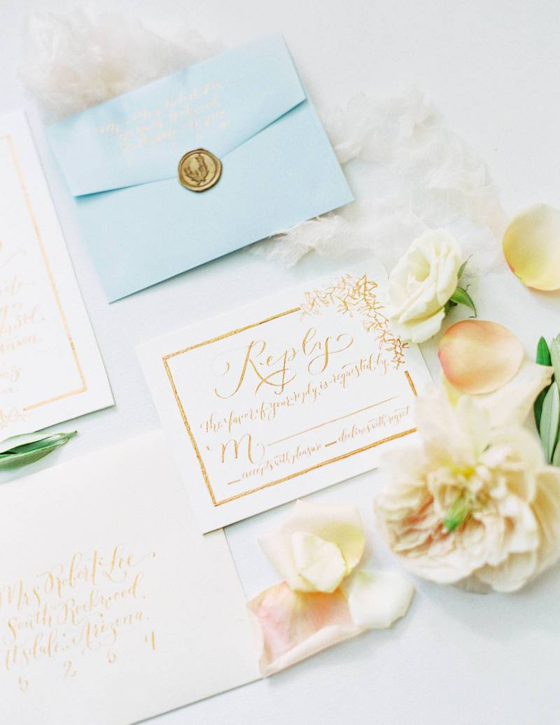 Arizona wedding inspiration in calming blues and neutrals | Arizona ...
