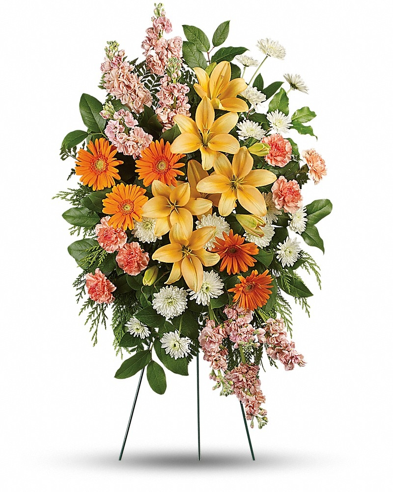 Treasured Lilies Spray  - Standing Sprays & Wreaths Flowers by In Full Bloom Winnipeg