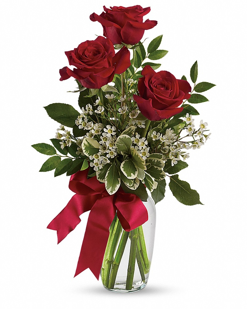Thoughts Of You Bouquet With Red Roses  - Love & Romance Flowers by In Full Bloom Winnipeg