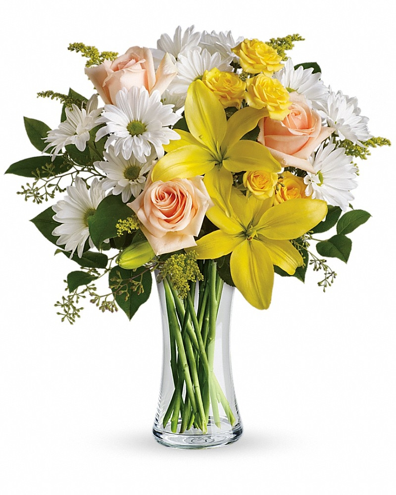 Daisies And Sunbeams Bouquet - Birthday Flowers by In Full Bloom Winnipeg