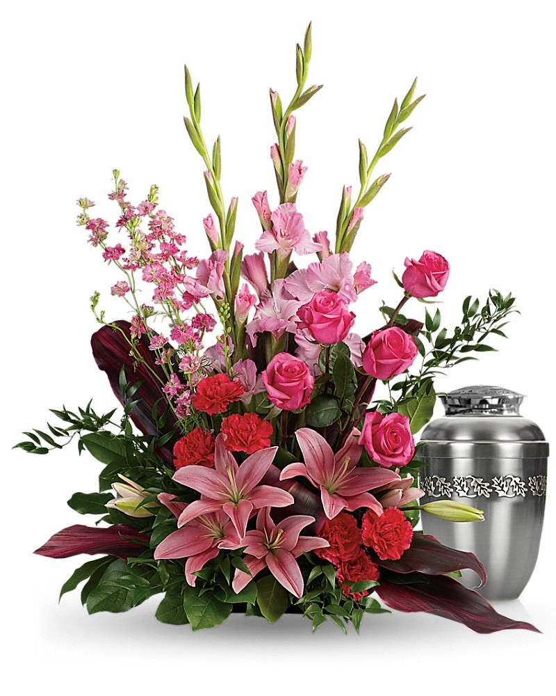 Adoring Heart Bouquet - Photo &Urn Tributes Flowers by In Full Bloom Winnipeg