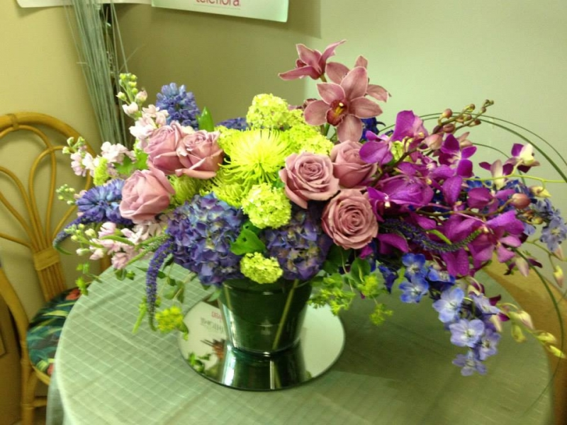 Colorful Flowers buffet  Arrangements - Winnipeg Florist by In Full Bloom