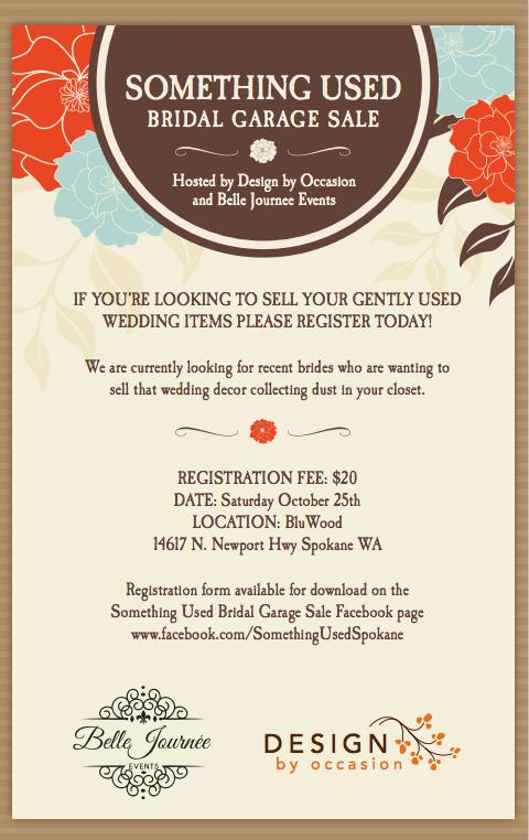 Wedding Garage Sale.Something Used Bridal Garage Sale October 25th