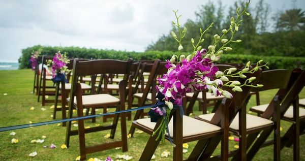 Fruitwood Padded Folding Chair Ceremony