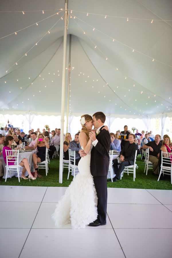 Bride and Groom White Dance Floor