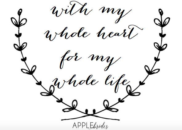 With My Whole Heart Png Wedding Quotes
