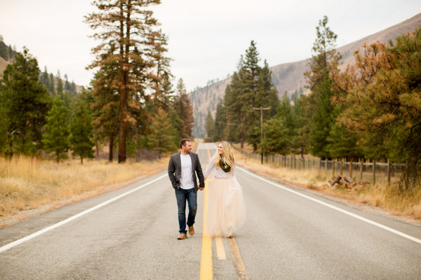 Lake Chelan Engagement, Washington Engagement, Fall Engagement