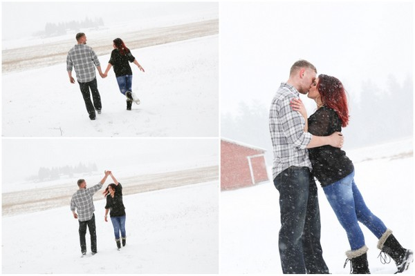 Snowy Engagement, Winter Engagement