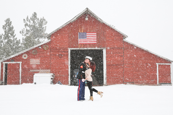 Snowy Engagement, Winter Engagement, Military Engagement