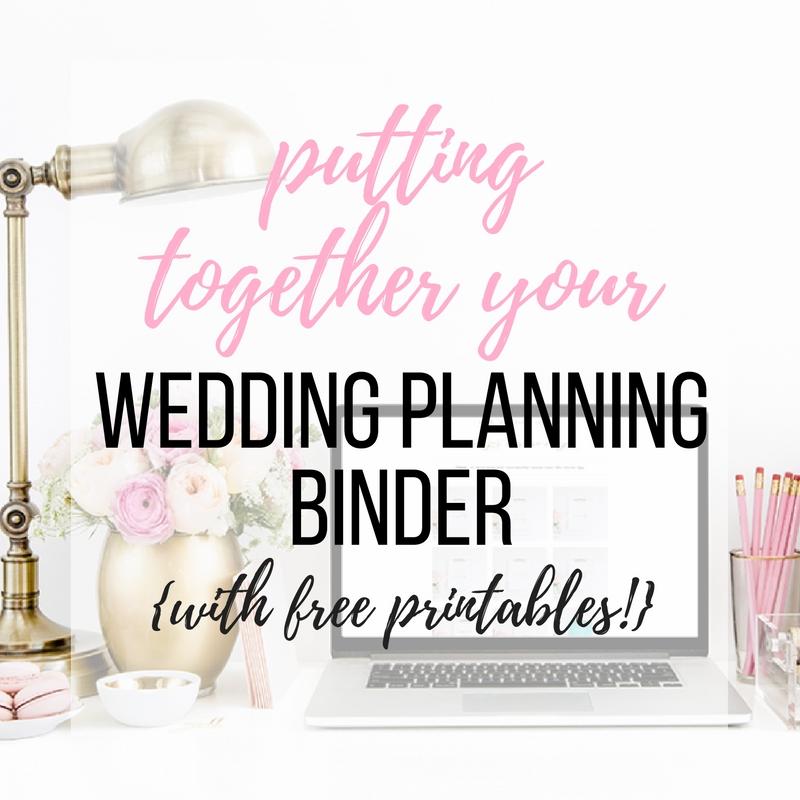 Putting Together Your Wedding Planning Binder {+ Free