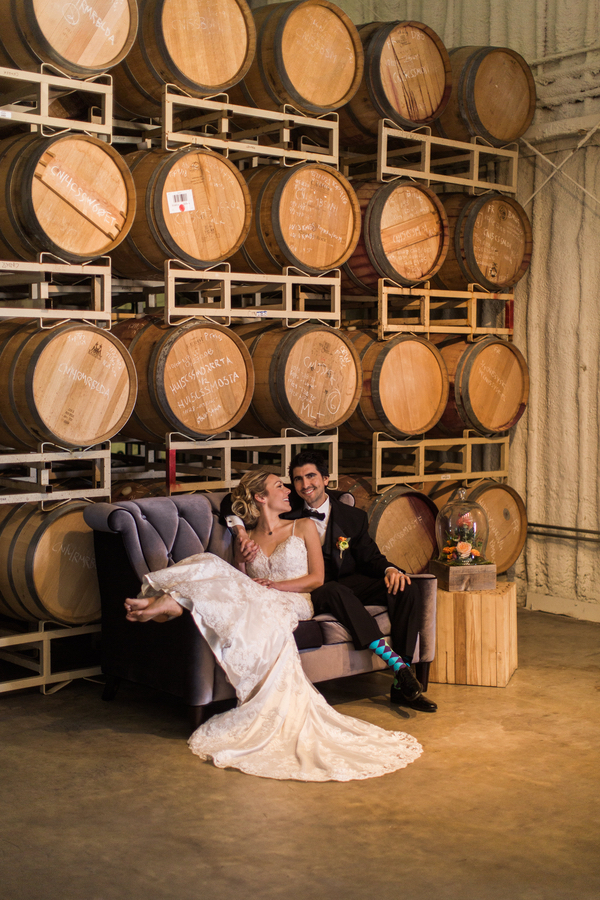 Modern + Industrial Winery Wedding Inspiration