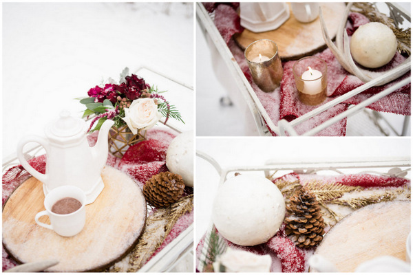Romantic Blush + Wine Colored Styled Shoot