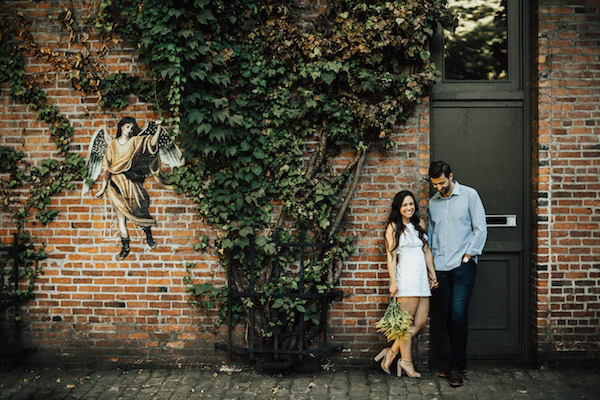 Classic Downtown Seattle Sunset Engagement