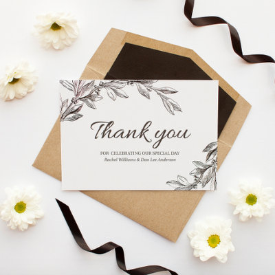 either way its common to give your bridal party a thank you gift in addition to a thank you card to recognise all their help love and hard work - Wedding Gift Thank You Cards