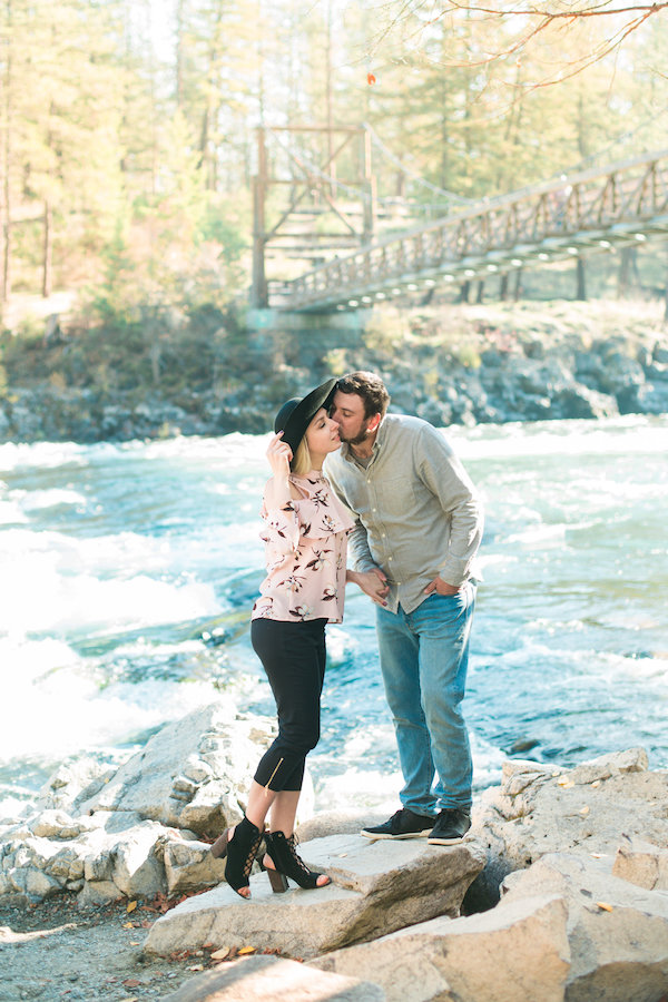 Riverside Picnic Engagement In Spokane