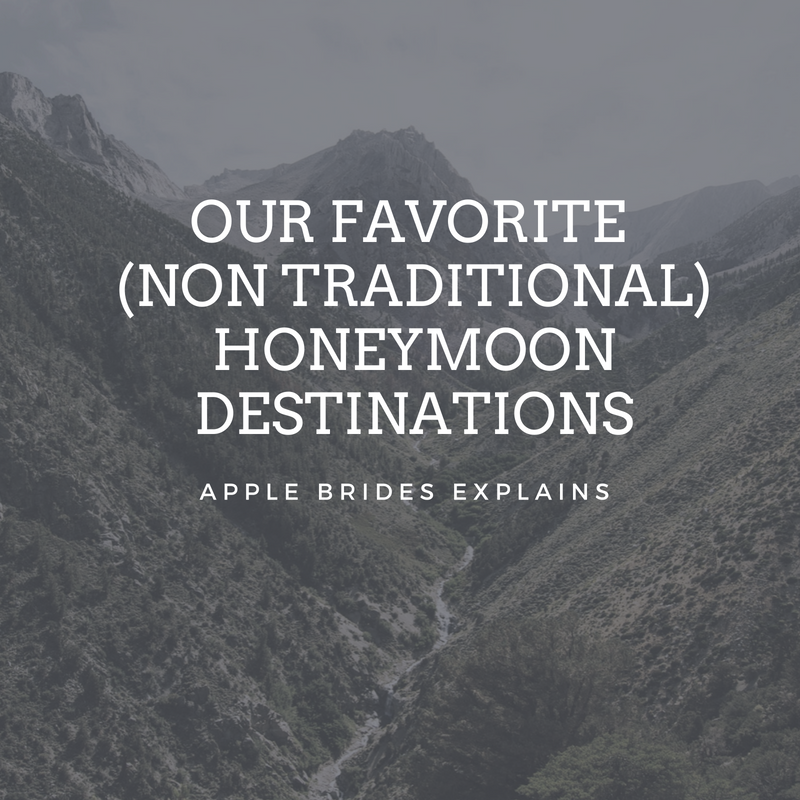 Our Favorite (Non Traditional) Honeymoon Destinations on Apple Brides