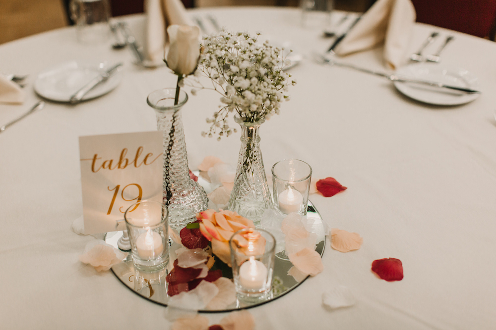 Tablescape | Central Washington University Wedding With The Sweetest Backstory on Apple Brides