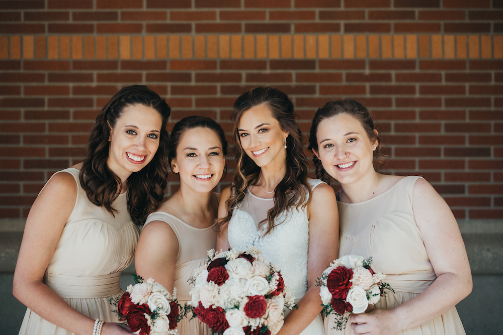 Bridesmaids | Central Washington University Wedding With The Sweetest Backstory on Apple Brides