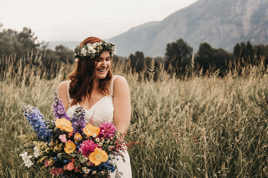Boho PNW Wildflower Wedding Inspiration on Apple Brides