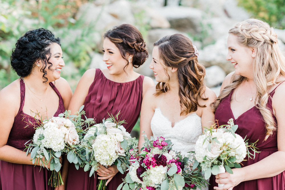 Sweet Jewel-Toned Outdoor Wedding on Apple Brides