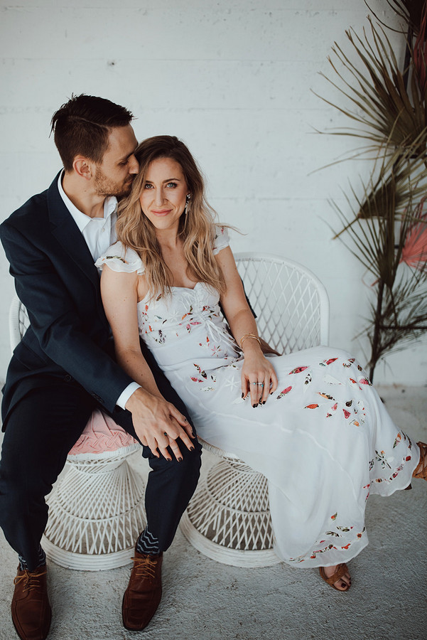 Boho Chic White Wedding Inspiration on Apple Brides