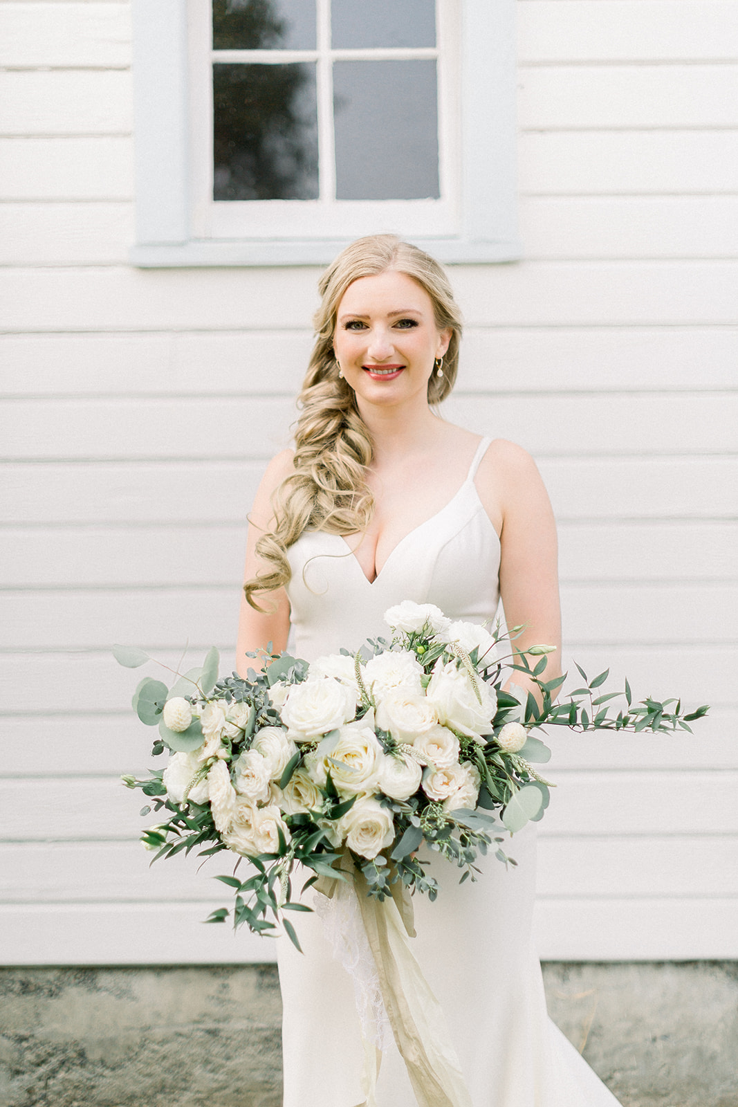 White & Greenery Bouquet