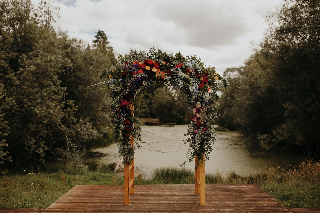 Ceremony Arch on Apple Brides