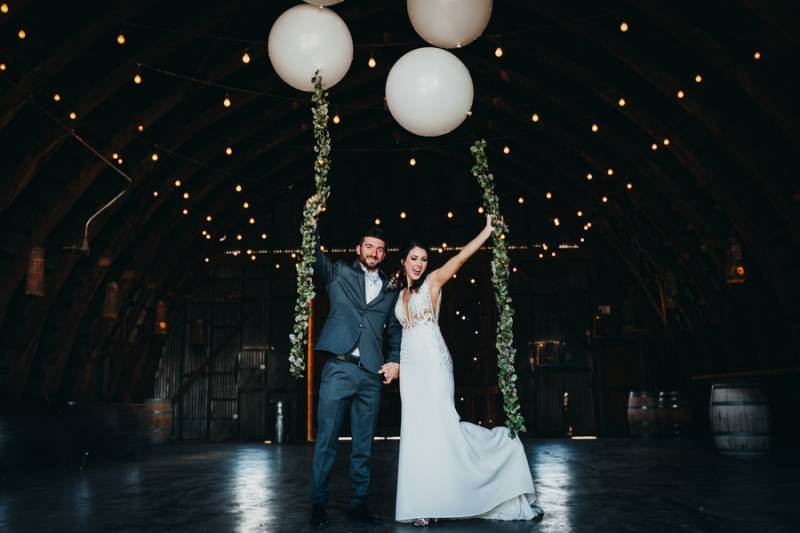 Rich Burgundy Winery Wedding On Apple Brides