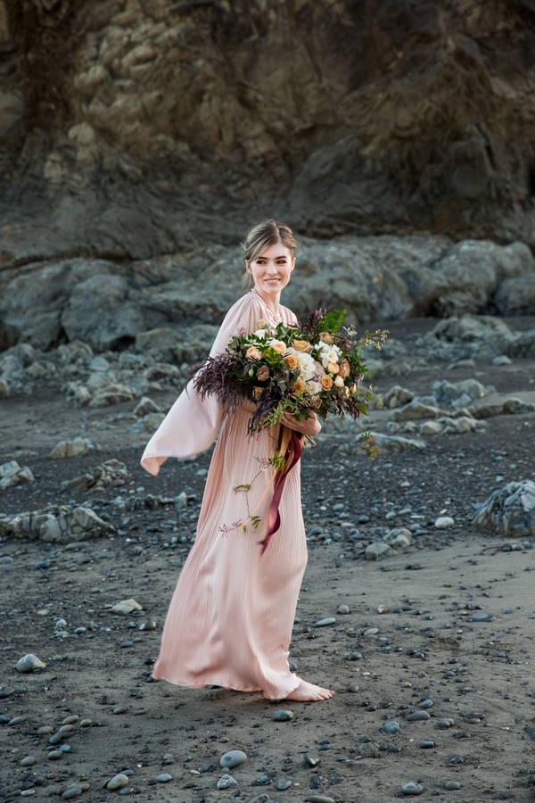 Blush Bridesmaid Inspiration Shoot in Port Angeles, Washington on Apple Brides