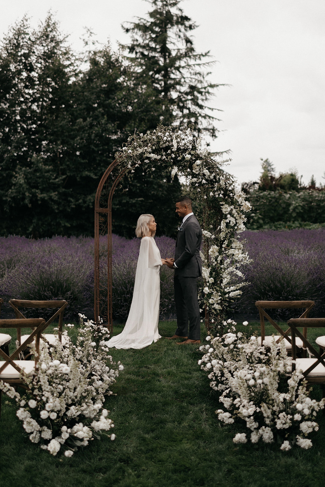Gorgeous, Modern Wedding Inspiration on a Lavender Farm on Apple Brides