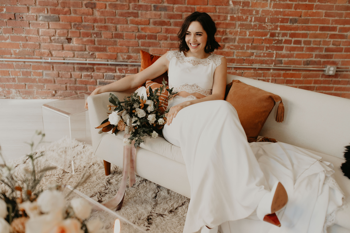 Modern Autumn Styled Shoot On Apple Brides