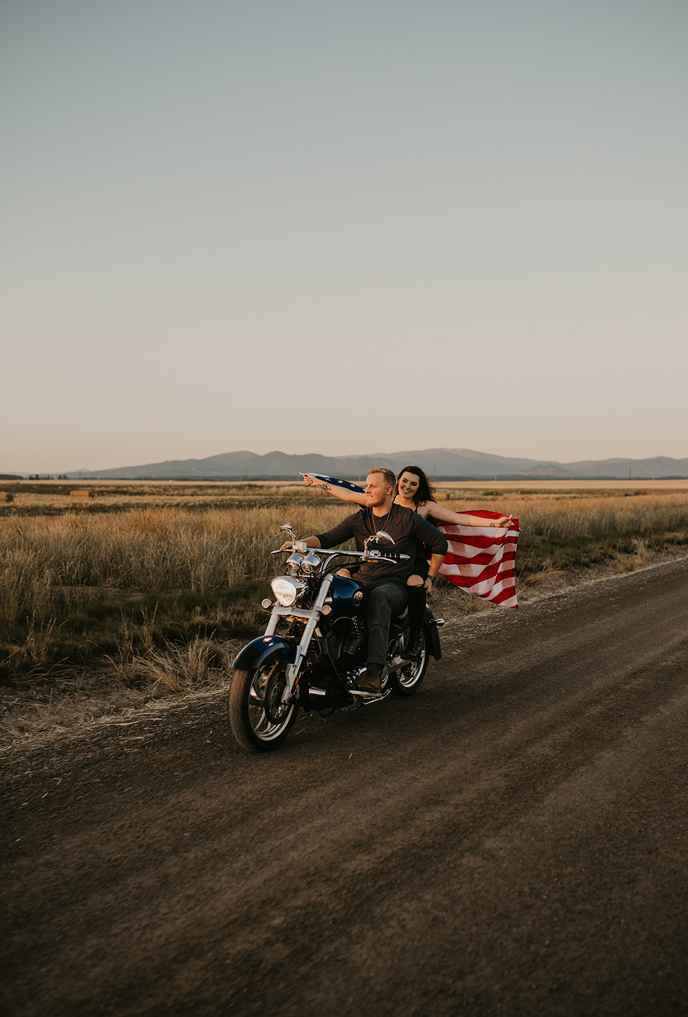 Wild + Free Motorcycle Engagement Session