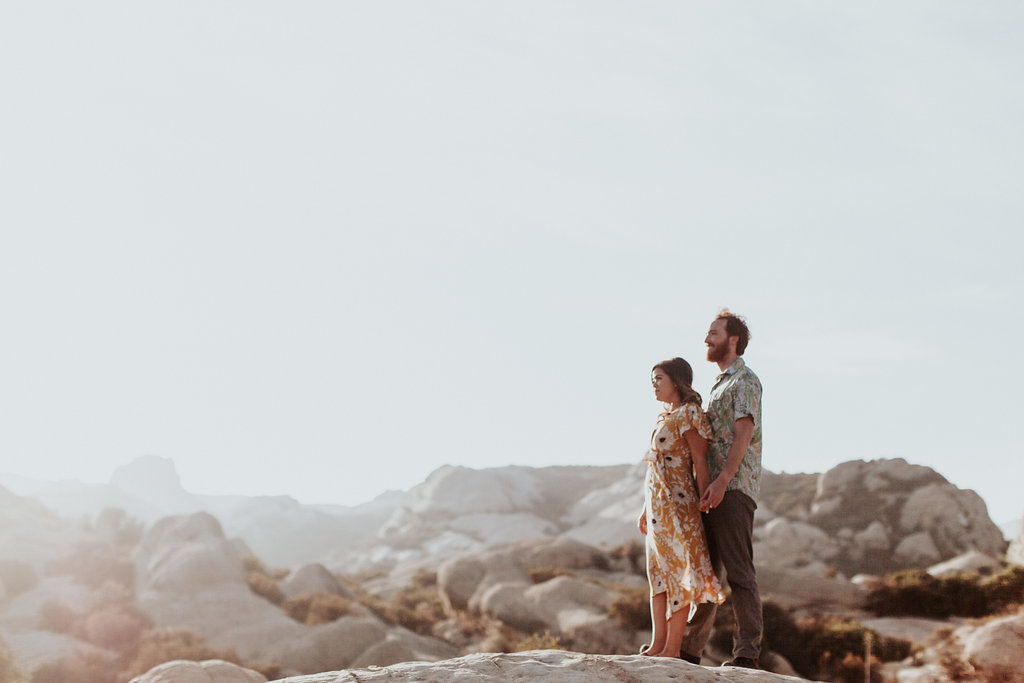 Adventurous and Playful Engagement Shoot Through the Piedra Blancas | The Wedding Standard